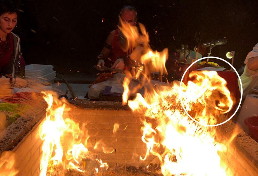 Ganesh en la Puja de Fuego